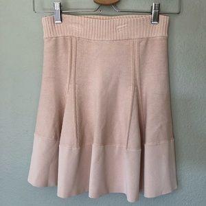 A.L.C Flared Light Beige Nude Mini Skirt XS